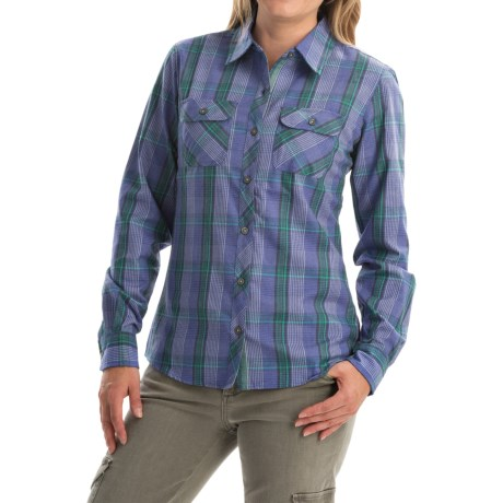 Marmot Bridget Twill Flannel Shirt UPF 50+, Long Sleeve (For Women)