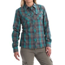 Marmot Bridget Twill Flannel Shirt - UPF 50+, Long Sleeve (For Women) in Ocean - Closeouts