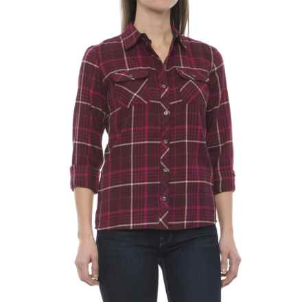 Marmot Bridget Twill Flannel Shirt - UPF 50+, Long Sleeve (For Women) in Port - Closeouts