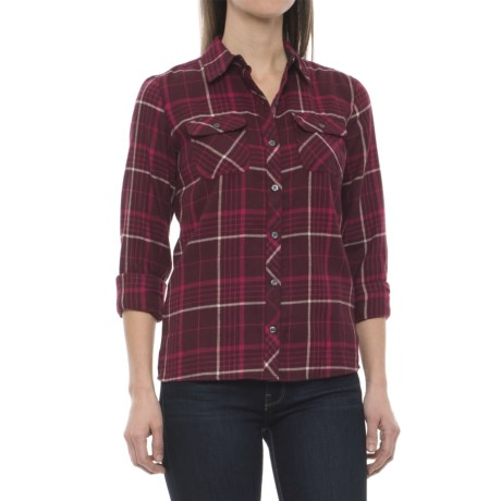 Marmot Bridget Twill Flannel Shirt - UPF 50+, Long Sleeve (For Women) in Port