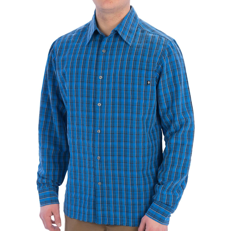 Marmot bromley plaid shirt upf 20 button up long for Men s upf long sleeve shirt