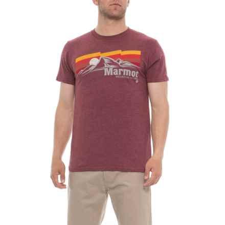 Marmot Burgundy Heather Sunsetter T-Shirt - Short Sleeve (For Men) in Burgundy Heather - Closeouts