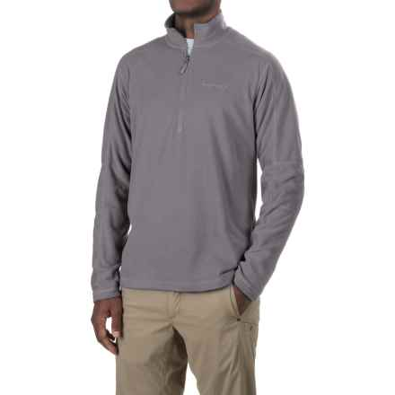 Marmot Buxton Fleece Shirt - Zip Neck, Long Sleeve (For Men) in Cinder - Closeouts