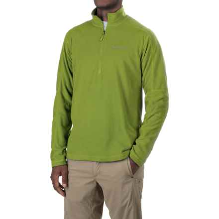 Marmot Buxton Fleece Shirt - Zip Neck, Long Sleeve (For Men) in Green Lichen - Closeouts