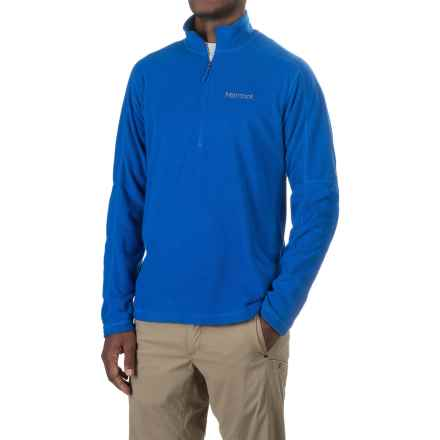 Marmot Buxton Fleece Shirt - Zip Neck, Long Sleeve (For Men) in True Blue - Closeouts