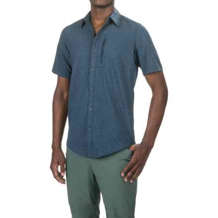 Marmot Caecius Shirt - UPF 25, Short Sleeve (For Men) in Vintage Navy - Closeouts