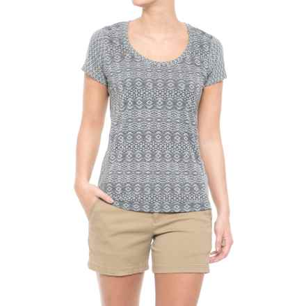Marmot Cassie Shirt - UPF 30, Short Sleeve (For Women) in Grey Storm Lilly - Closeouts