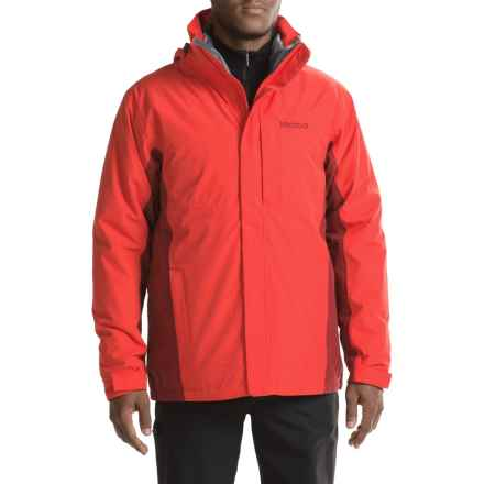 Marmot Castleton Component Jacket - Waterproof, Insulated, 3-in-1 (For Men) in Rocket Red/Brick - Closeouts
