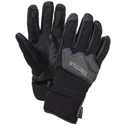 Marmot Cataclysm Undercuff Polartec® Gloves - Waterproof, Insulated (For Men) in Black - Closeouts