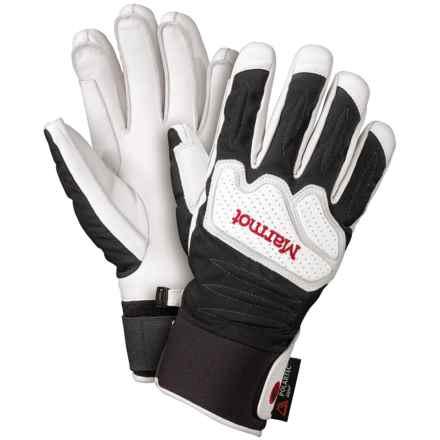 Marmot Cataclysm Undercuff Polartec® Gloves - Waterproof, Insulated (For Men) in White - Closeouts