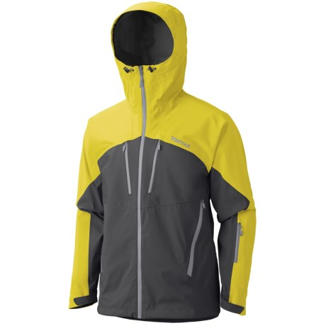 Marmot Cerro Torre Gore-Tex® Pro Shell Ski Jacket - Waterproof (For Men) in Slate Grey/Acid Yellow