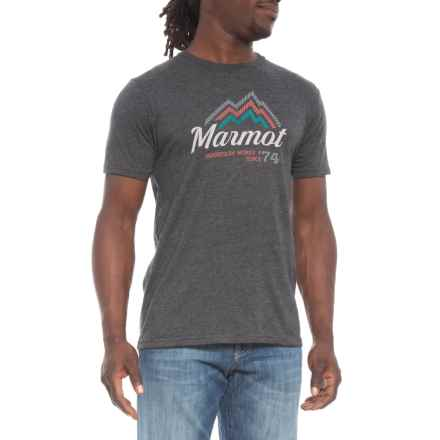 Marmot Charcoal Heather Beams T-Shirt - Short Sleeve (For Men) in Charcoal Heather - Closeouts