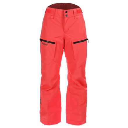 Marmot Cheeky Gore-Tex® Ski Pants - Waterproof, Insulated (For Women) in Neon Coral - Closeouts