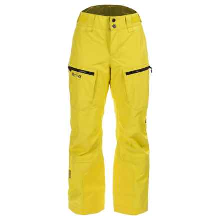 Marmot Cheeky Gore-Tex® Ski Pants - Waterproof, Insulated (For Women) in Yellow Blaze - Closeouts