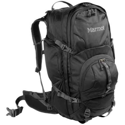 Marmot Clearwater 50L Backpack - Internal Frame in Black/Afterdark - Closeouts