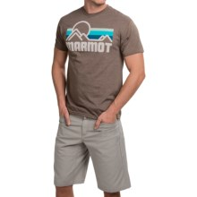 Marmot Coastal T-Shirt - Short Sleeve (For Men) in Brown Heather - Closeouts