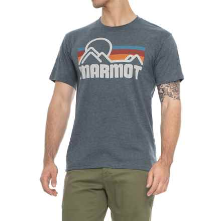 Marmot Coastal T-Shirt - Short Sleeve (For Men) in Dark Navy Heather - Closeouts