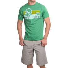 Marmot Coastal T-Shirt - Short Sleeve (For Men) in Green Heather - Closeouts