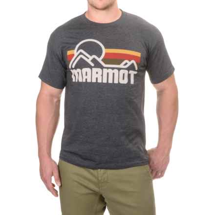 Marmot Coastal T-Shirt - Short Sleeve (For Men) in New Charcoal Heather - Closeouts