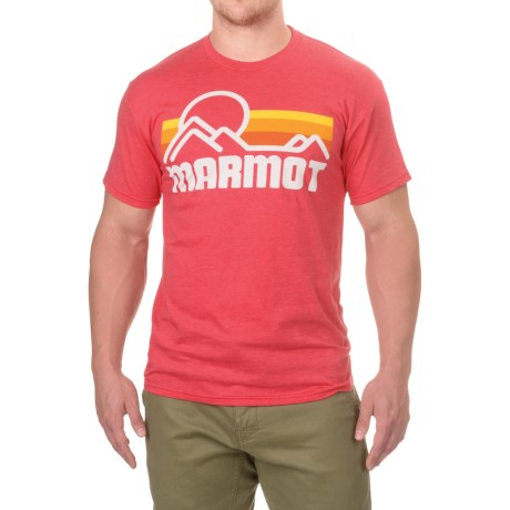 Marmot Coastal T-Shirt - Short Sleeve (For Men) in New Red Heather
