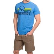 Marmot Coastal T-Shirt - Short Sleeve (For Men) in Royal Heather - Closeouts