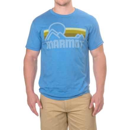 Marmot Coastal T-Shirt - Short Sleeve (For Men) in True Royal Heather - Closeouts
