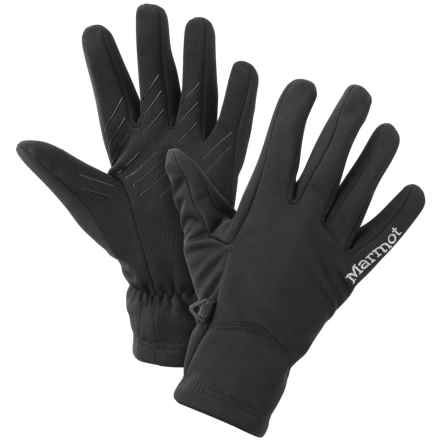 Marmot Connect Soft Shell Gloves - Touchscreen Compatible (For Women) in Black - Closeouts