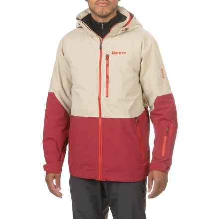 Marmot Contrail Gore-Tex® Ski Jacket - Waterproof, Insulated (For Men) in Pebble/Brick - Closeouts