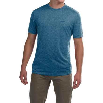Marmot Conveyor T-Shirt - UPF 30, Short Sleeve (For Men) in Arctic Navy Heather - Closeouts