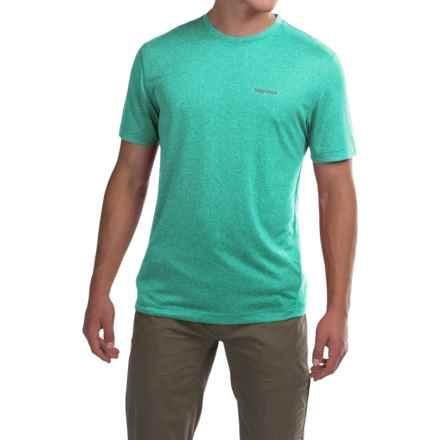 Marmot Conveyor T-Shirt - UPF 30, Short Sleeve (For Men) in Deep Jade Heather - Closeouts