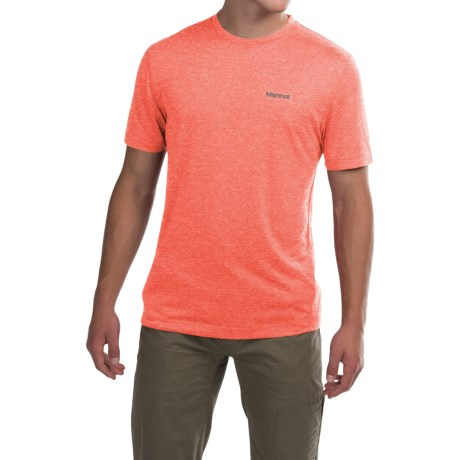 Marmot Conveyor T-Shirt - UPF 30, Short Sleeve (For Men) in Hot Orange Heather