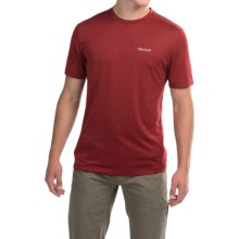 Marmot Conveyor T-Shirt - UPF 30, Short Sleeve (For Men) in Team Red Heather - Closeouts