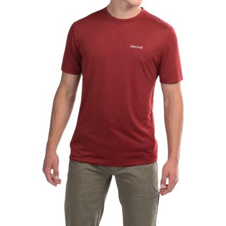 Marmot Conveyor T-Shirt - UPF 30, Short Sleeve (For Men) in Team Red Heather