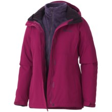 Marmot Cosset Component Jacket - Waterproof, 3-in-1 (For Women) in Dark Rose - Closeouts