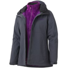 Marmot Cosset Component Jacket - Waterproof, 3-in-1 (For Women) in Dark Steel - Closeouts