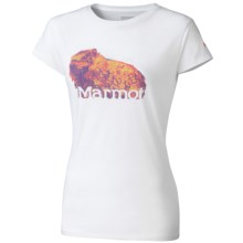 Marmot Cotton Pixel Marmot T-Shirt - Short Sleeve (For Women) in White - Closeouts