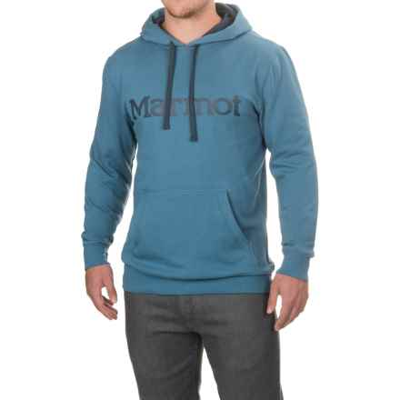 Marmot Cotton/Poly Hoodie (For Men) in Slate Blue - Closeouts