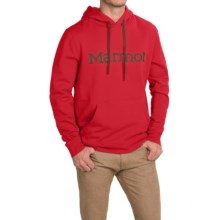 Marmot Cotton/Poly Hoodie (For Men) in True Team Red - Closeouts