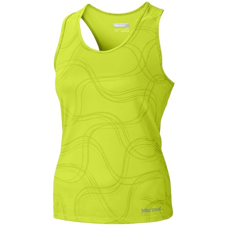 Marmot Crest Tank Top - Built-In Shelf Bra (For Women) in Green Lime Gradient