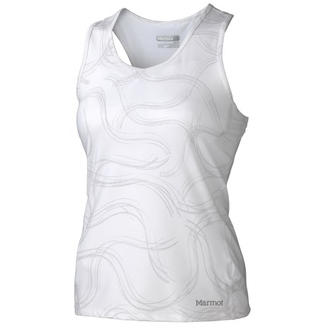 Marmot Crest Tank Top - Built-In Shelf Bra (For Women) in White Gradient