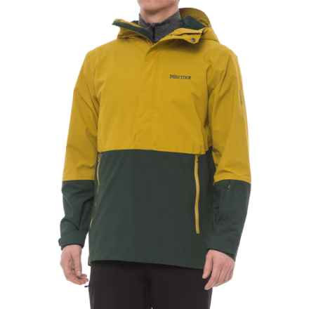 Marmot Crossover Anorak - Waterproof (For Men) in Golden Palm/Dark Spruce - Closeouts