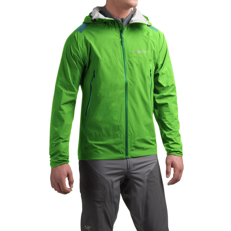 Marmot men's jacket - Marmot Crux Jacket Waterproof For Men In Citrus Green