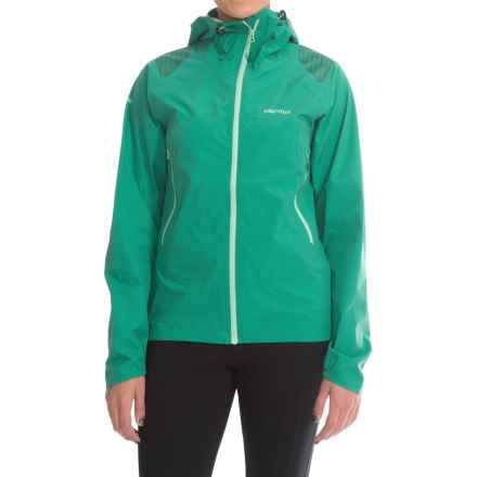 Marmot Crux Jacket - Waterproof (For Women) in Green Garnet - Closeouts