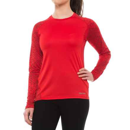 Marmot Crystal Shirt - UPF 50, Long Sleeve (For Women) in Tomato Chrysalis - Closeouts