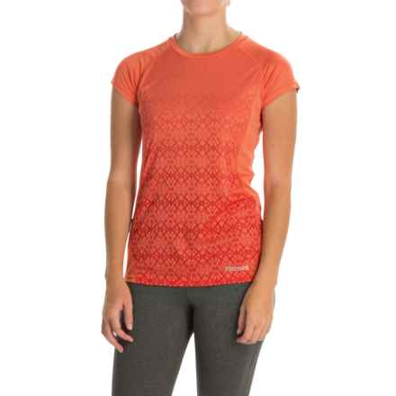 Marmot Crystal Shirt - UPF 50, Short Sleeve (For Women) in Emberglow - Closeouts