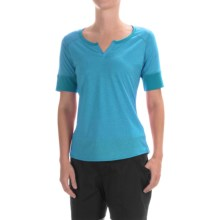 Marmot Cynthia Shirt - UPF 20, Short Sleeve (For Women) in Aqua Blue - Closeouts