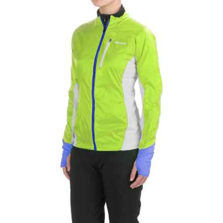 Marmot Dash Hybrid Jacket (For Women) in Hyper Yellow/Silver - Closeouts