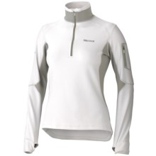 Marmot Deviate Fleece Pullover - UPF 50, Zip Neck (For Women) in White/Granite - Closeouts