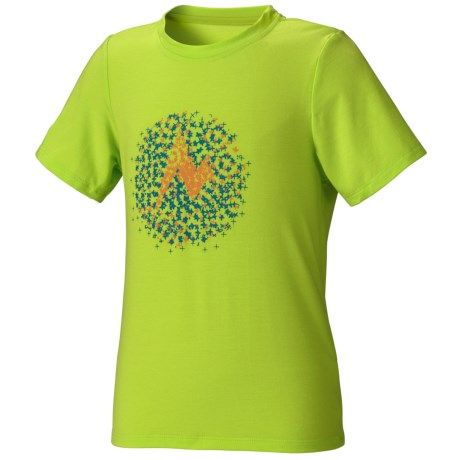 Marmot Digital Dot T-Shirt - UPF 20, Short Sleeve (For Girls) in Green Lime