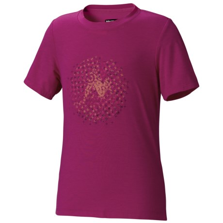Marmot Digital Dot T-Shirt - UPF 20, Short Sleeve (For Girls) in Orange Spice